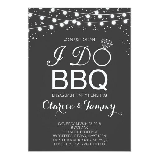 I Do BBQ Invitation / BBQ Engagement Party 13 Cm X 18 Cm Invitation Card