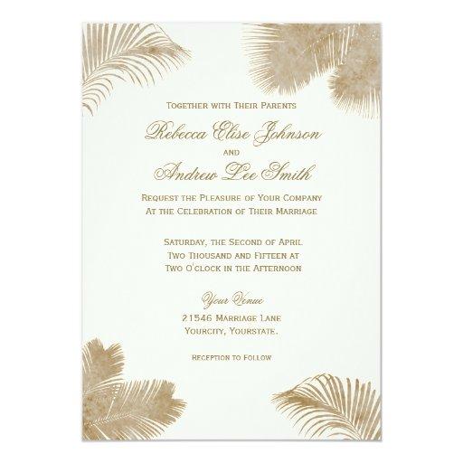 "Elegant Palm Invitation 5"" X 7"" Invitation Card"