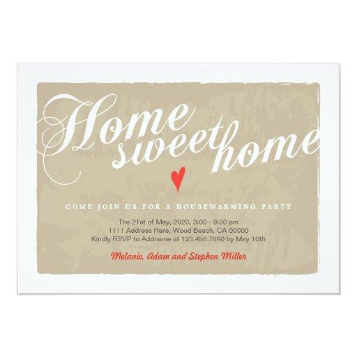 "Elegant Calligraphy Modern Housewarming Invitation 5"" X 7"" Invitation Card"