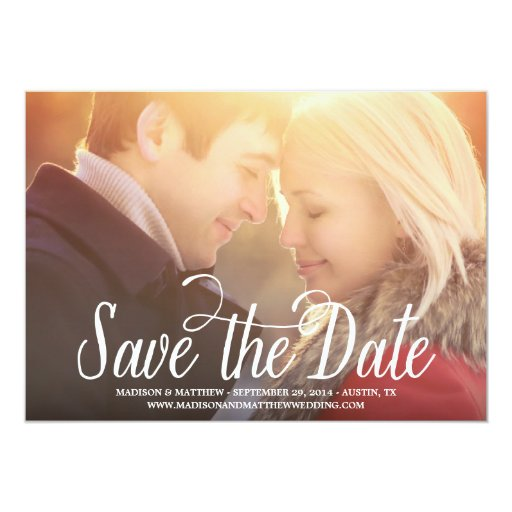 "Meant to Be | Save the Date Announcement 5"" X 7"" Invitation Card"