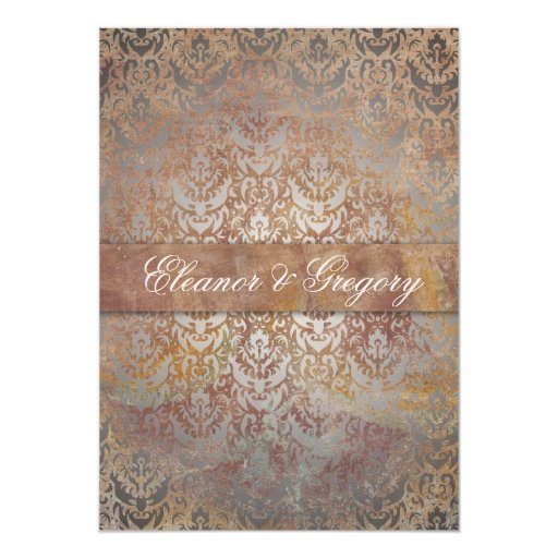 "Italian Feast Tuscan Elegance Menu Cards 5"" X 7"" Invitation Card"