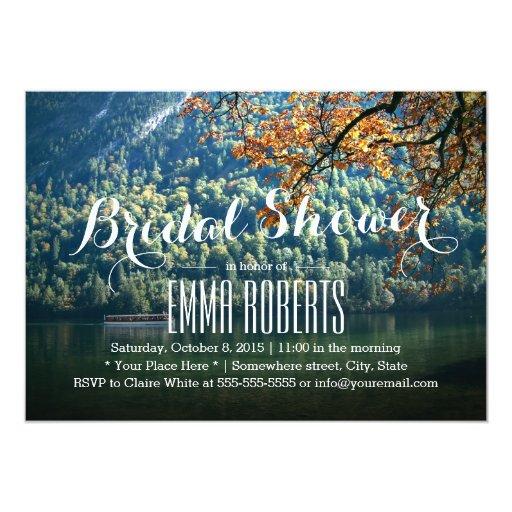 "Mountain Lake Theme Bridal Shower Invitations 5"" X 7"" Invitation Card"