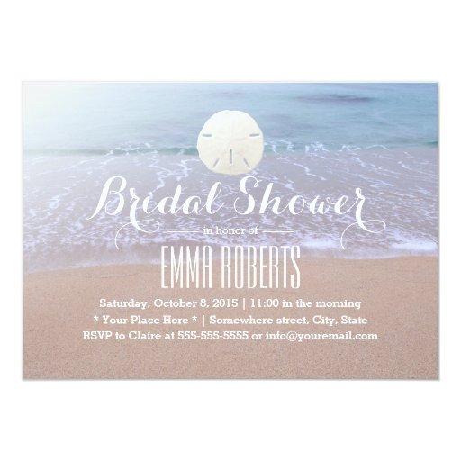 Sand Dollar Beach Theme Bridal Shower 5x7 Paper Invitation Card