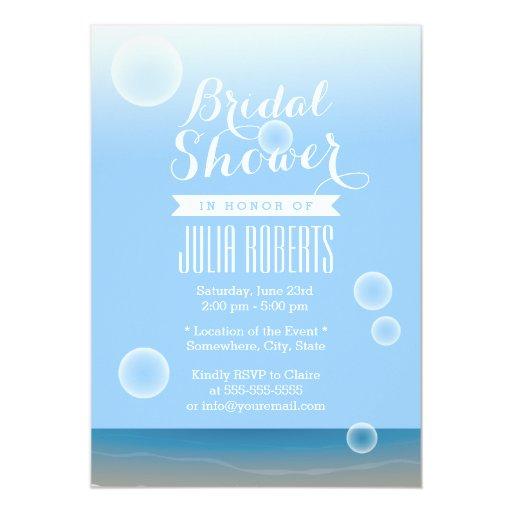"Summer Beach Bubbles Bridal Shower Invitations 5"" X 7"" Invitation Card"