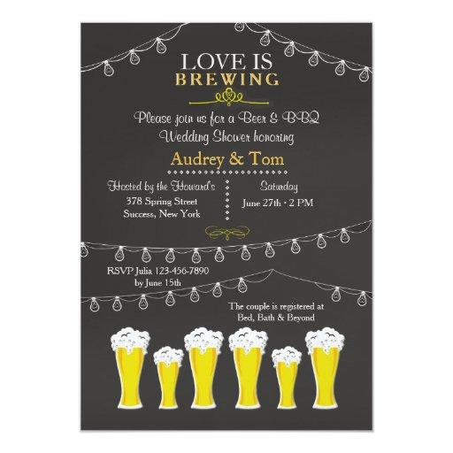 "Something's Brewing Wedding Shower Invitation 5"" X 7"" Invitation Card"