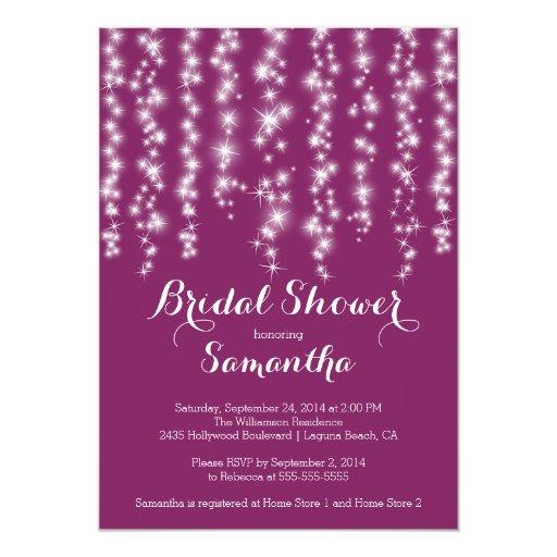 "Modern Sparkle Bridal Shower Invitation 5"" X 7"" Invitation Card"