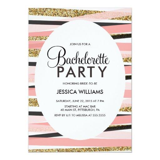 """Glitter Bachelorette Party Invitation 5"""" X 7"""" Invitation Card"""
