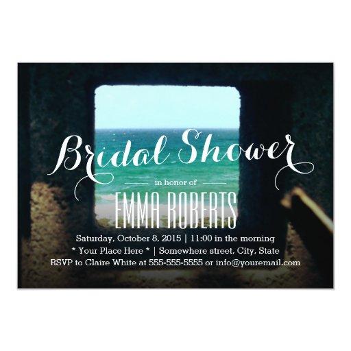 "Sea Window Bridal Shower Invitations 5"" X 7"" Invitation Card"