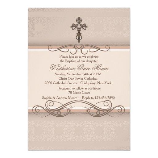 "Elegant Scrolls Invitation 5"" X 7"" Invitation Card"