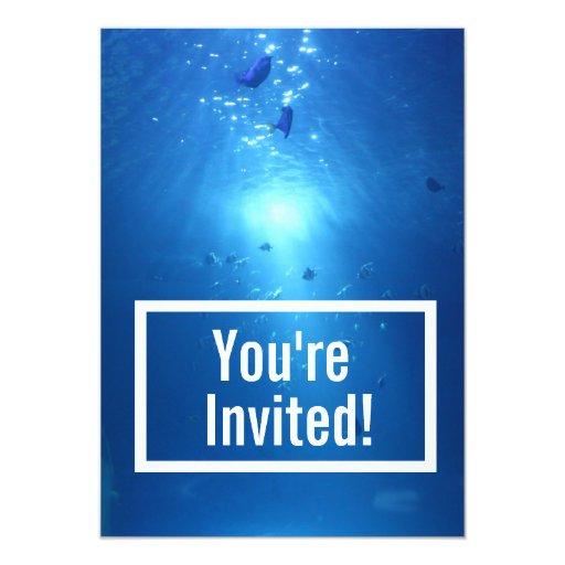 "Ocean Blue Undersea Baby Shower Invitation 5"" X 7"" Invitation Card"