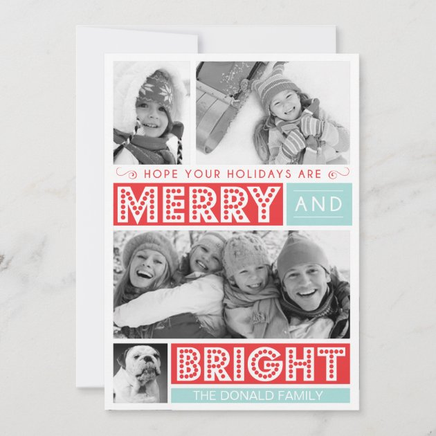 Bold Merry and Bright by Origami Prints Photo Card