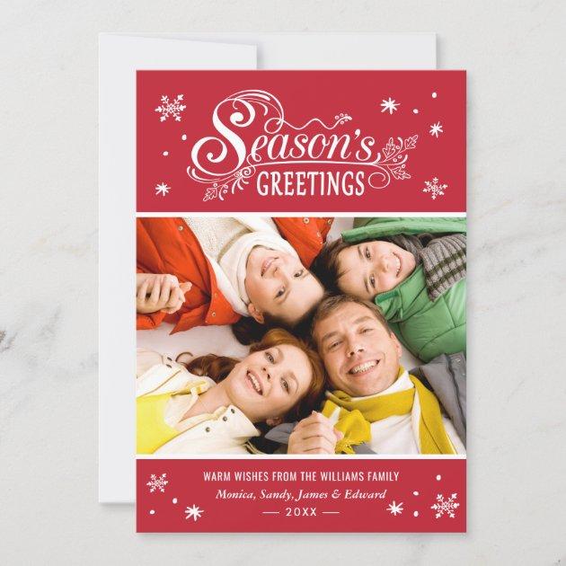 Seasonal Greetings Merry Christmas Holiday Photo
