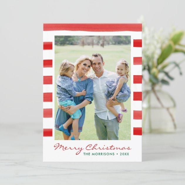 Modern Merry Christmas Family Photo Holiday