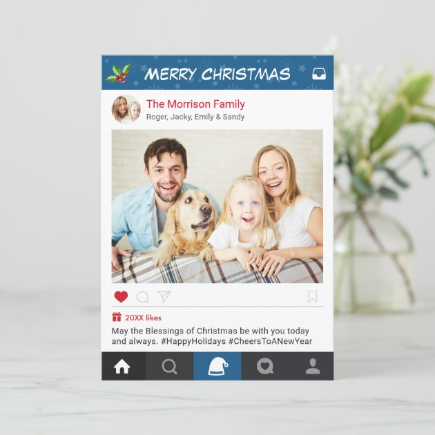 Christmas Instagram Frame Holiday Greetings Photo