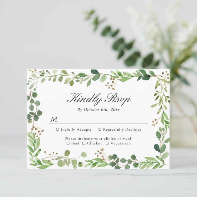 Eucalyptus Leaves Border Botanical Foliage RSVP