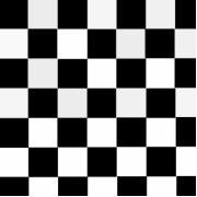 Black and white checkered melamine plate zazzle for Lino noir et blanc damier