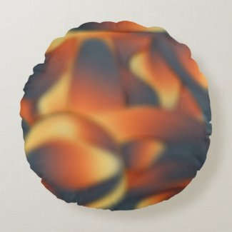 Just a Touch Peachy Round Pillow