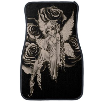 Fairy 3 sepia car floor mat