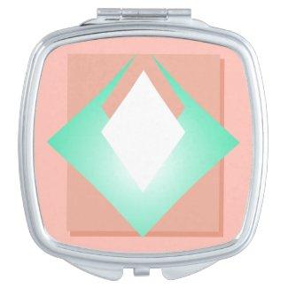 Blush Pastel Pink Peach Girly Trendy Chic Makeup Mirror