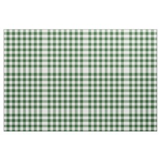 Classic Green and White Gingham Block Pattern Fabric