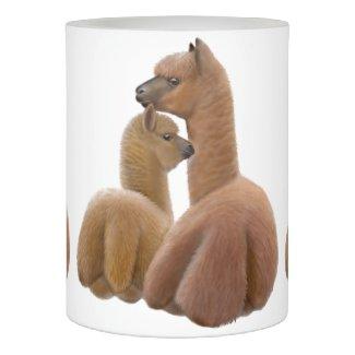 Alpaca Love Flameless Pillar Candle