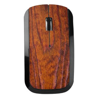 Warm Toned Woodgrain Photo Wireless Mouse