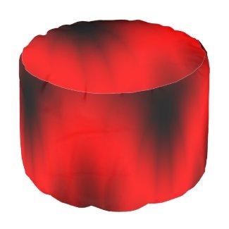 Regal Red Splash Pouf