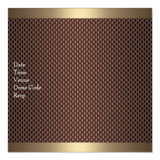 Elegant Chocolate 40th Birthday Party 5.25x5.25 Square Paper Invitation Card (back side)