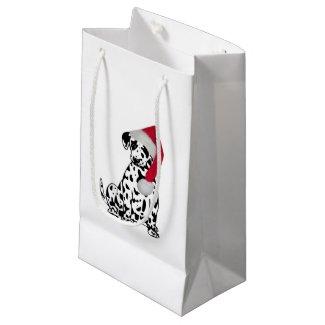 Christmas Dalmatian Small Gift Bag