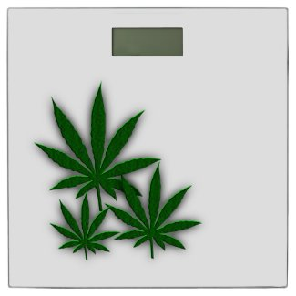 Weed Leaf Bathroom Scale