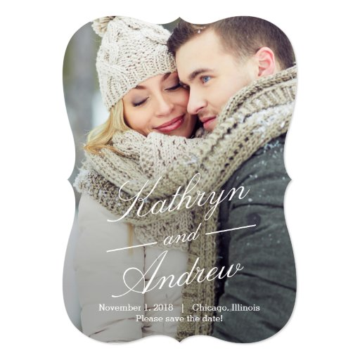 """Simply Us Photo Save The Date Cards 5"""" X 7"""" Invitation Card"""