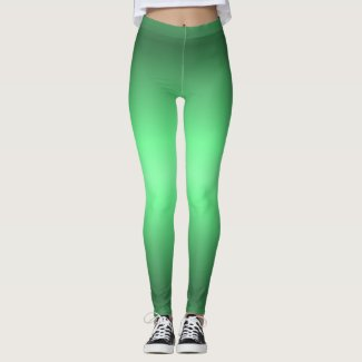 Green Glow Fashion Leggings