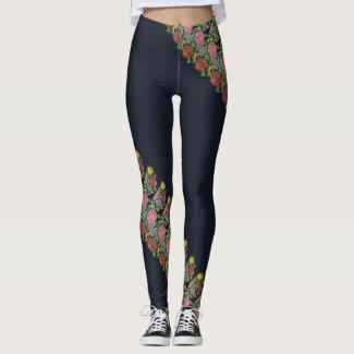 Hungarian floral pattern leggings