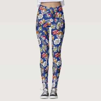 Toy Story | Toys at Play Comic Pattern Leggings