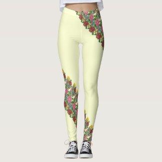 Hungarian floral pattern no2 leggings