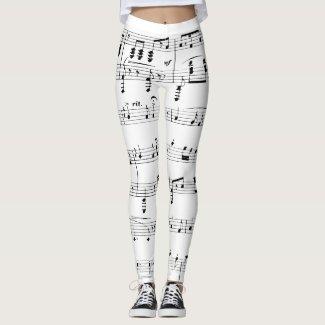 White Sheet Music Leggings