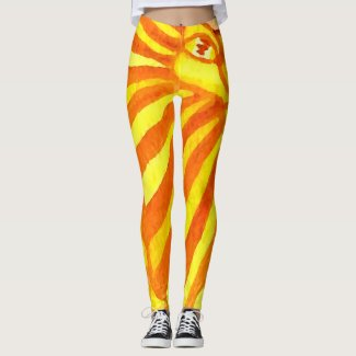 Lion Giraffe Artsy Fun Chic Artistic Animals Trend Leggings