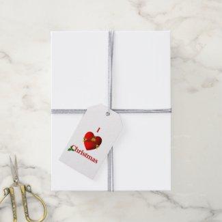 I Heart Christmas Gift Tags