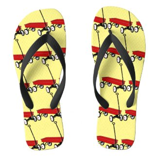 Red Wagon Flip Flops