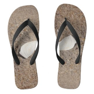 Sand and Shell Flip Flops
