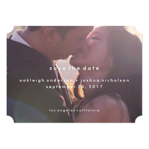 Simple Text | Modern Photo Save the Date 5x7 Paper Invitation Card