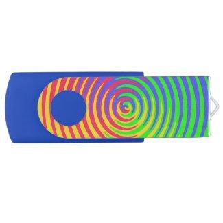 Rainbow Spiral Swivel USB 2.0 Flash Drive