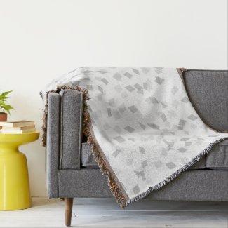 Gray Confetti Throw Blanket