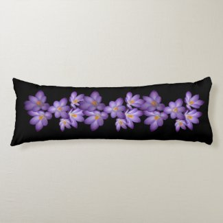Purple Crocus Body Pillow