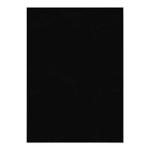 Classy Ivory Ribbon Dark Damask Housewarming Party 5x7 Paper Invitation Card (back side)