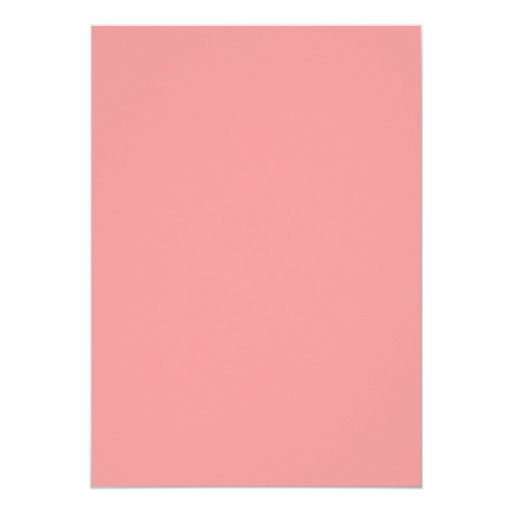 """Coral Pink Twin Girls Birthday Party Invitations 5"""" X 7"""" Invitation Card (back side)"""