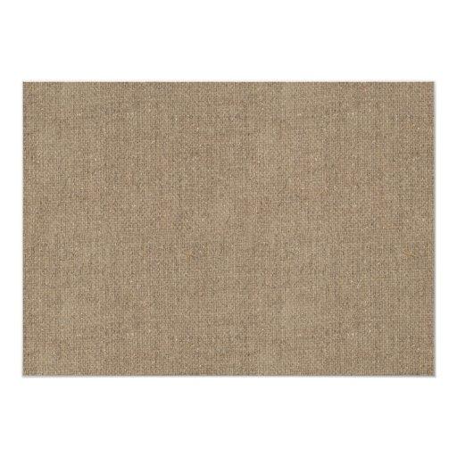 Rustic Burlap Twine & Mason Jar Bridal Shower 5x7 Paper Invitation Card (back side)