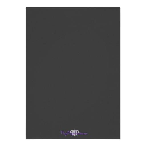 "Modern Bar Mitzvah Invitation Custom Announcements 5"" X 7"" Invitation Card (back side)"