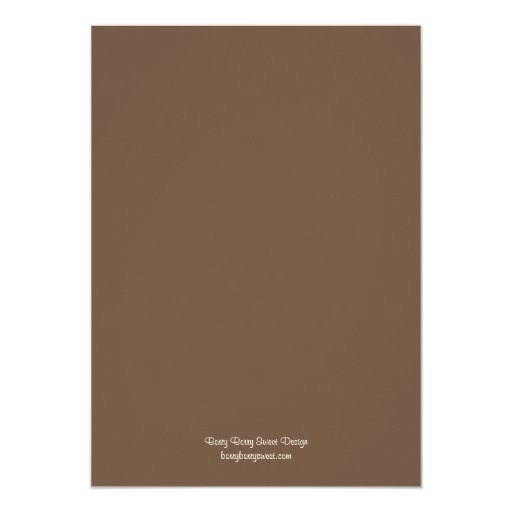 "Elegant Swirl Anniversary Photo Invitation 5"" X 7"" Invitation Card (back side)"