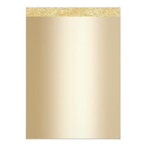 Stylish Golden 50th Wedding Anniversary 5x7 Paper Invitation Card (back side)